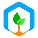 arrow, leaves, plant, recycle, reusable