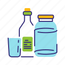 bottle, garbage, glass, recycle, recycling, sorting, waste