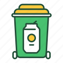 trash, metal, recyclable, waste, recycling, garbage, sorting icon