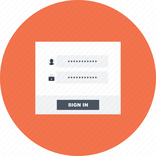 enter, form, network, sign, sign in, user, web icon