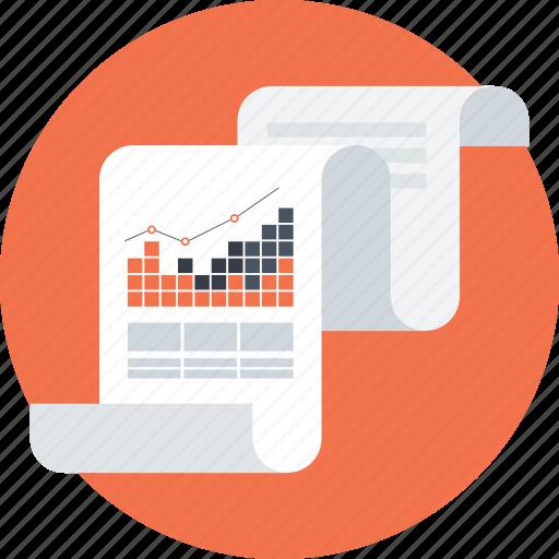 analitycs, chart, data analytics, paper, pie graphic, presentation icon