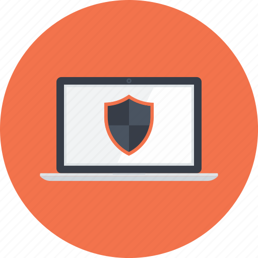 Computer, defense, laptop, protection, security, shield, weapons icon - Download on Iconfinder