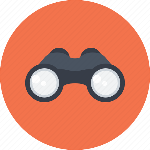 binoculars, detective, goggles, search, see, spy icon