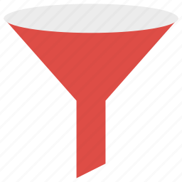 extract, filter, filtering, funnel icon