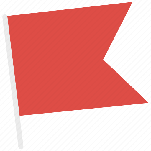 flag, location, red flag icon