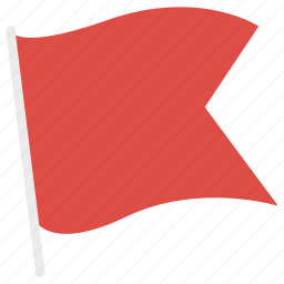 flag, flags, flying, red flag icon