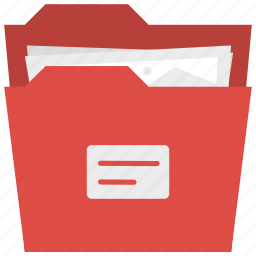 archive, documents, folder, holder, image folder, organizer, red folder icon