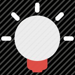 bulb, light, tool icon