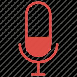 audio, media, mic, microphone, music, record, tool icon