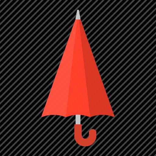 closed umbrella, parasol, protection, red, summer, sunrise, sunshade, umbrella icon