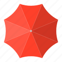 parasol, protection, red, summer, sunrise, sunshade, umbrella icon