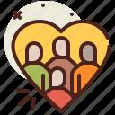 asylum, crisis, heart, migrant icon