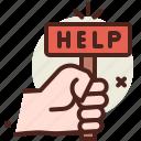 asylum, crisis, help, migrant icon