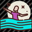 asylum, crisis, migrant, swim icon