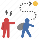 ejection, expel, expulsion, fire, purge icon