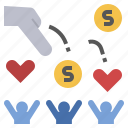 bountiful, charity, donation, generous, help icon