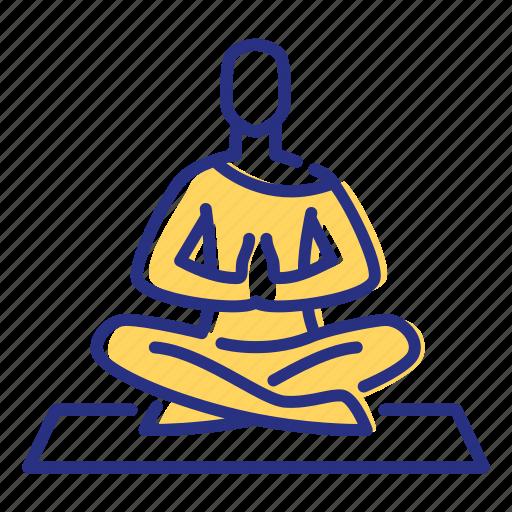 meditation, relaxation, yoga icon
