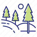 forest, relaxation, time in nature, walk icon