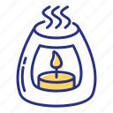 aromatherapy, candle, relaxation icon