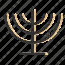 candelabrum, candles, celebration, hanukkah, jewish, menorah, relicons icon