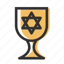 chalice, cup, goblet, jewish, kiddush, relicons, religion icon