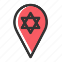 direction, gps, location, navigation, pin, relicons, shul icon