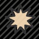 baha'i, bahai, colour, nine pointed star, relicons, religion icon