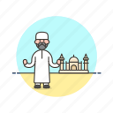 islamic, mosque, religion, imam, muslim, preacher, man icon