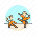 art, chaolin, fight, martial, monk, practice, religion, training icon