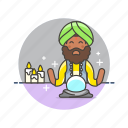 african, american, fortune, male, religion, teller icon
