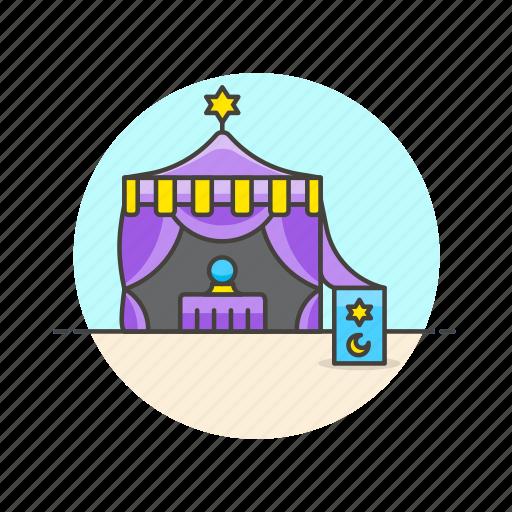 fortune, future, outdoors, religion, teller, tent icon