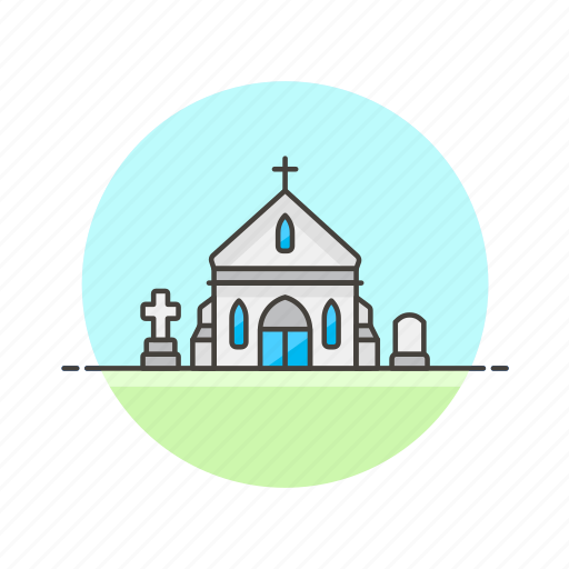 building, christian, church, grave, graveyard, property, religion icon