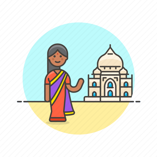 dress, indian, lady, person, religion, temple, woman icon