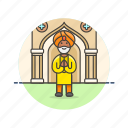 asian, avatar, indian, man, person, religion, temple icon