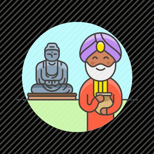 agoda, buddha, buddhist, indian, man, religion, temple icon