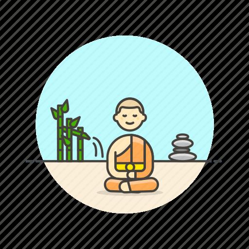 buddhist, man, meditation, monk, religion, south, zen icon
