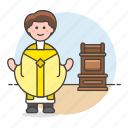 bishop, christianity, church, clergy, high, male, preacher, prie, priest, religion, sins icon