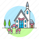 building, chapel, christian, christianity, church, holy, outdoors, religion, temple icon