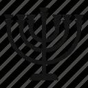 candlestick, chanukah, jewish, menora, menorah, religion icon