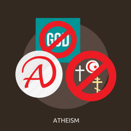 atheism, believe, philosophy, religion, science, spiritual, tradition icon