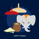 ceremony, culture, happy onam, holiday, india, onam, religion icon