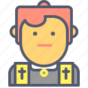 catholic, christian, cross, preacher, priest, protestant icon