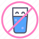 alcohol, drinks, fasting, forbidden, liquid, water icon