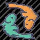 fish, food, peace, sea, symbol icon