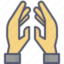 hands, prayer, worship icon