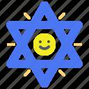 david, israel, king, of, star, symbol icon
