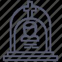 cemetery, cross, dead, grave icon