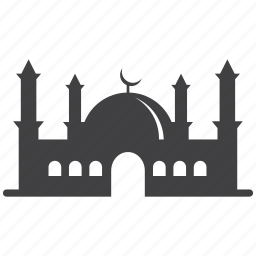 mosque, pray, religion icon