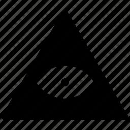 eye, pyramid, religion icon