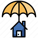 asset, estate, home, insurance, protection, real, renter icon